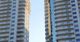 Tilt up of condos - apartment building Footage