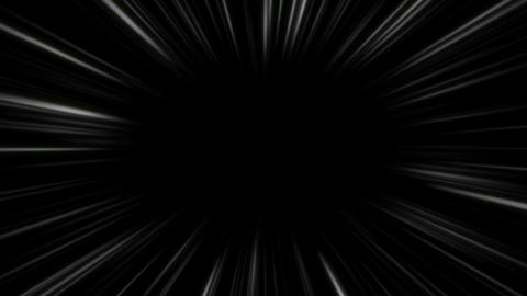 Time tunnel,comic speed white lines black bg Animation