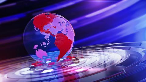 World News Background Looped 3 Animation