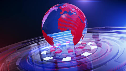 World News Background Looped 7 Animation