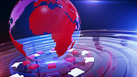 World News Background Looped 21 Animation