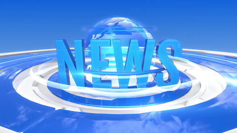News With Earth Background Loop Animation