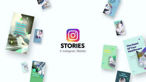 Instagram stories: Medical Pack After Effects Template