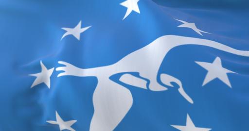 Corpus Christi city flag, Texas in USA or United States of America - loop Animation