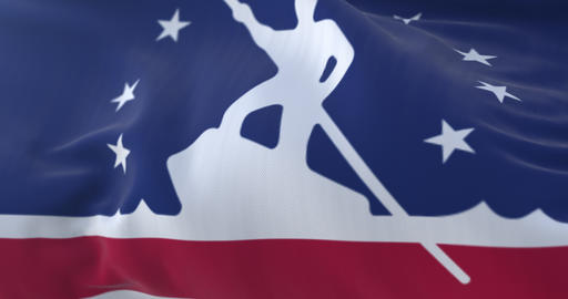 Richmond city flag, city of Virginia in USA or United States of America - loop Animation