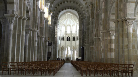 Basilique Sainte-Marie-Madeleine de Vezelay church in Vezelay Live Action