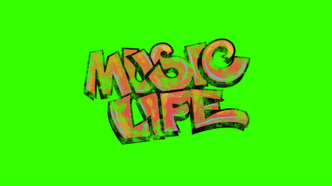 """Music Life"" Graffti Animation: Looping + Matte Animation"