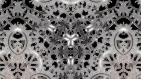 Cogwheels Kaleidoscope Abstract Loop Background Stock Video Footage