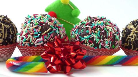 Seasonal festive christmas mini dessert. Christmas Footage