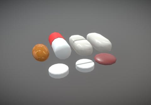 Medication Pills 3D Model