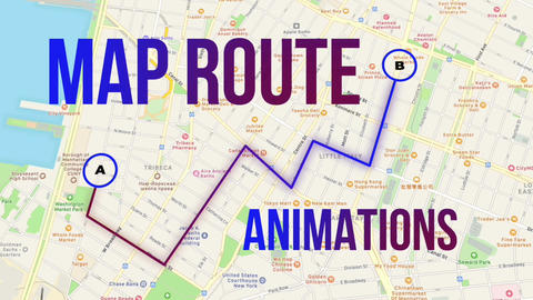 Map Route Animations Apple Motion Template