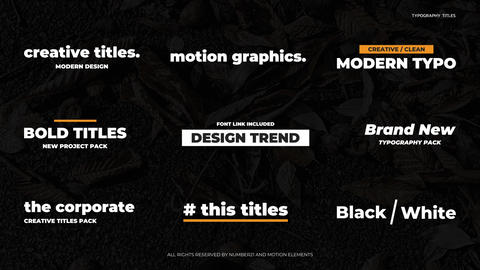 Typography Titles After Effects Template
