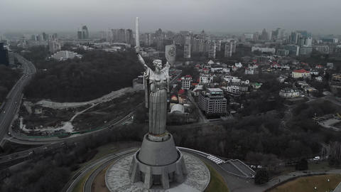 The Motherland Monument is a monumental statue in Kiev, the capital of Ukraine Live Action