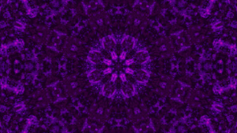 Purple smoky abstract kalaidoscope vj loop 3d illustration Animation