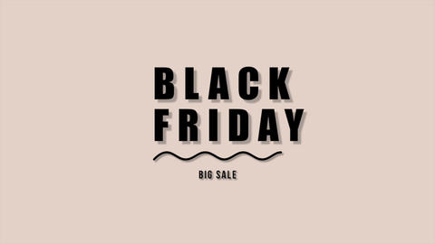 Animation intro text Black Friday on brown fashion and minimalism background with geometric black Animation