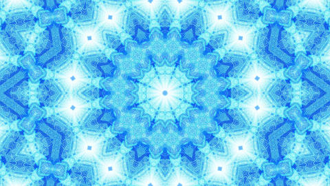 VJ LOOP 3d illustration blue abstract art kalaidoscope mandala Animation