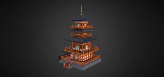 Japanese temple 3D Model