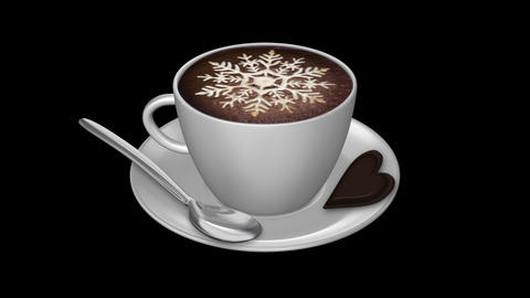 Coffee Snowflake - Isolated Cup Animation