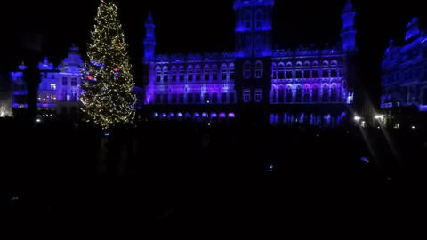 grand place in brussels Footage