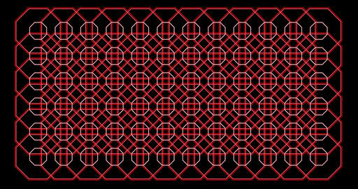 Octagon pattern. Loop Graphics. Background Pattern Animation