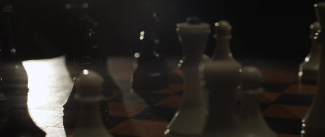 Playing chess closeup, wooden chess board. Chessboard and chess pieces Footage