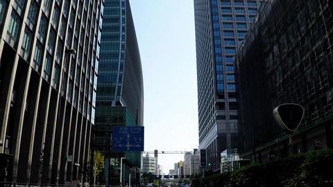 Tokyo's office town in Japan Footage