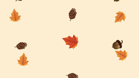 Hello autumn animation with leafs circular frame 4k animated 12 Live Action