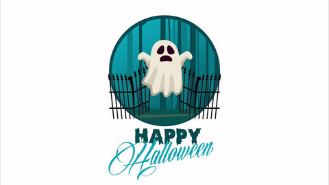 Happy halloween animated scene with 4k animation 27 Live Action
