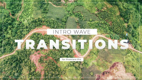 Intro Wave Transitions Premiere Pro Template