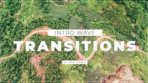 Intro Wave Transitions After Effects Template