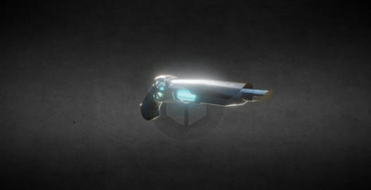 Lowpoly sci-fi gun model 3D Model