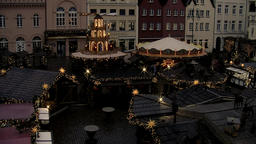 Christmas fair on the marketplace of Schwerin Footage