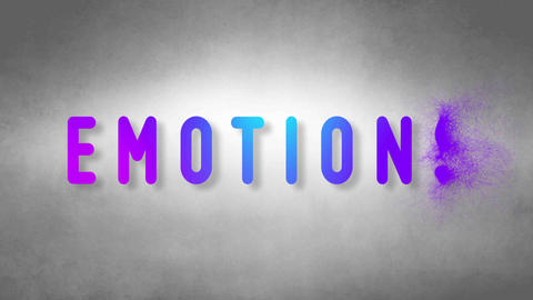 Emotions headband. Text from sand. With black background Animation