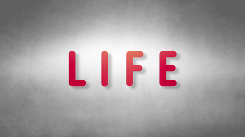 Life headband. Text from sand. With black background Animation