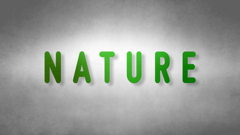 Nature headband. Text from sand. With black background Animation