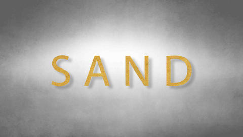 Sand headband. Text from sand. With black background Animation