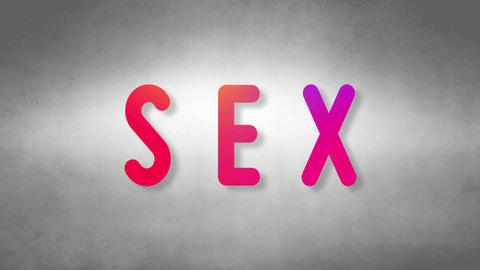 Sex headband. Text from sand. With black background Animation