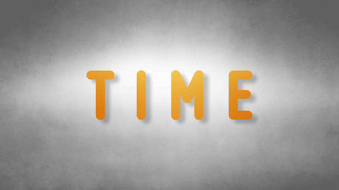 Time headband. Text from sand. With black background Animation