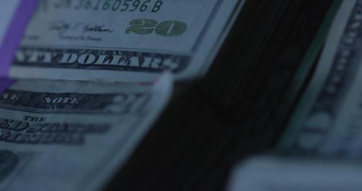 Dollar Bills. Cash Money. Macro, Close Up, Slow Motion Footage