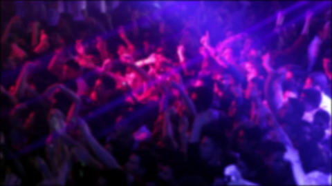 Blurred People At A Concert Footage