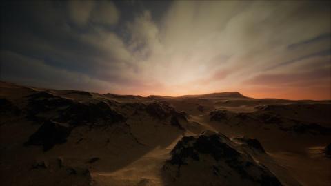 Desert storm in sand desert Live Action