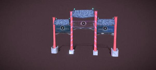 Cyberpunk gate 3D Model