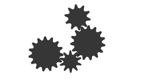 Gear - Cogwheel, rotating machine Animation