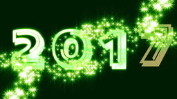 2017 Green with stars Animation