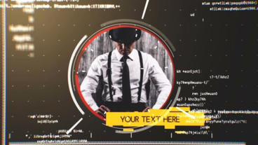 Cinematic Radar Slideshow After Effects Project