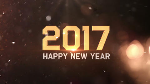 Happy New Year 2017 Animation