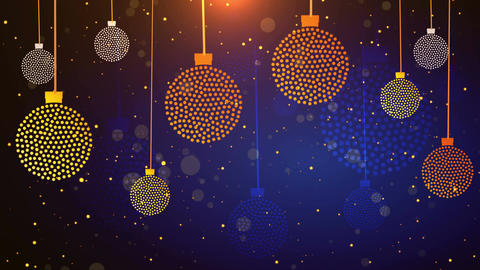 Dotted Christmas Balls 4K Stock Video Footage