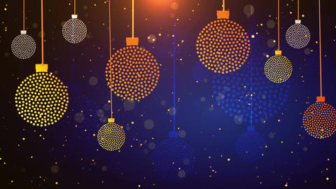 Dotted Christmas Balls 4K Animation
