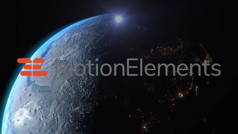 地球背景テキスト・ロゴ After Effectsテンプレート