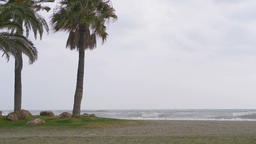 Stormy weather by the ocean in 4k Live Action